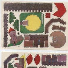 Coleccionismo Recortables: RECORTABLE (12X17) LOTE DE 2: CASTILLOS.. EDIT. ESTAMPAS DE ESPAÑA.. Lote 19838327
