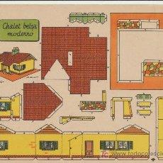 Coleccionismo Recortables: RECORTABLES BRUGUERA (21X29) CHALET BELGA MODERNO.. Lote 19874764