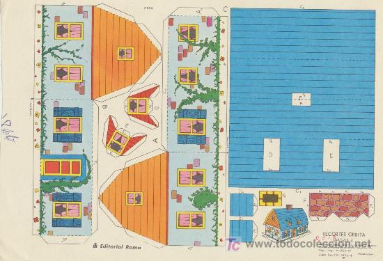 RECORTES ORBITA (17,5X26) CASAS Nº 4. EDITORIAL ROMA. (Coleccionismo - Recortables - Construcciones)