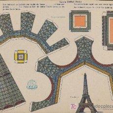Coleccionismo Recortables: RECORTABLES BABY (23X33) TORRE EIFFEL (PARÍS). AÑOS 40.. Lote 19902321