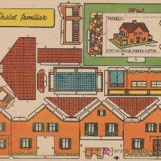 Coleccionismo Recortables: RECORTABLES BRUGUERA (21X29) CHALET FAMILIAR.. Lote 19902985