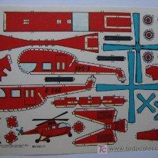 Coleccionismo Recortables: RECORTABLE ESTAMPAS DE ESPAÑA.HELICOPTERO. MEDIDAS 16,50 X 12 CM.. Lote 20020889
