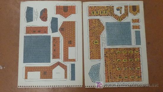 LOTE DE 2 RECORTABLES KIKI-LOLO. SERIE CASAS. EDITORIAL ROMA. (Coleccionismo - Recortables - Construcciones)