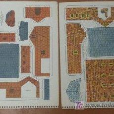 Coleccionismo Recortables: LOTE DE 2 RECORTABLES KIKI-LOLO. SERIE CASAS. EDITORIAL ROMA. . Lote 25733829