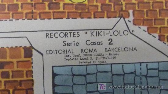 Coleccionismo Recortables: Lote de 2 recortables Kiki-lolo. Serie Casas. Editorial Roma. - Foto 2 - 25733829