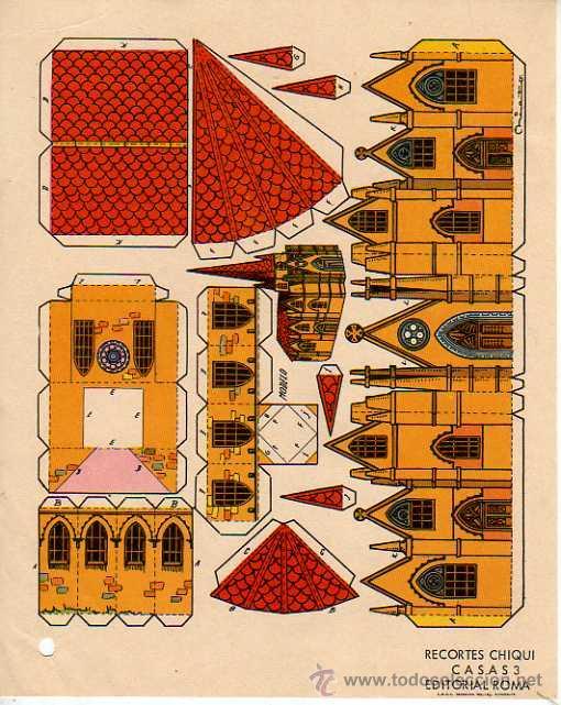 RECORTABLE EDITORIAL ROMA - RECORTES CHIQUI. CASAS 3 (Coleccionismo - Recortables - Construcciones)