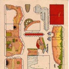 Coleccionismo Recortables: RECORTABLE EDITORIAL ROMA - RECORTES CHIQUI. CASAS 1 - MOLINO DE AGUA. Lote 20506666