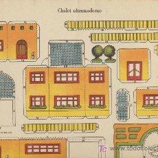 Coleccionismo Recortables: RECORTABLES LA TIJERA (29X40) CHALET ULTRAMODERNO. SERIE IMPERIO Nº 16.. Lote 21207058
