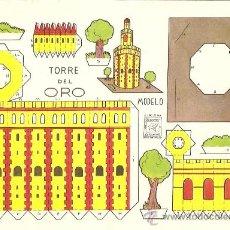Coleccionismo Recortables: TORRE DEL ORO - RECORTES AZUCENA - TAMAÑO HOJA 25 X 17 CM.. Lote 23438415