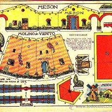 Coleccionismo Recortables: RECORTABLE MESON Y MOLINO DE VIENTO REVISTA MARAVILLAS 1944. Lote 23685957