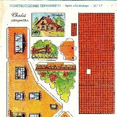 Coleccionismo Recortables: RECORTABLE CONSTRUCCIONES FERNANDITO CHALET CAMPESTRE . Lote 24150087