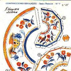 Coleccionismo Recortables: RECORTABLE CONSTRUCCIONES FERNANDITO LAMPARA ELECTRICA ED. ROMA . Lote 24150176