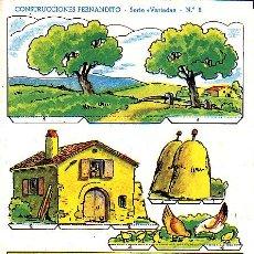 Coleccionismo Recortables: RECORTABLE CONSTRUCCIONES FERNANDITO CASA DE PAYES ED. ROMA . Lote 24150218