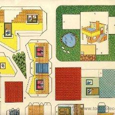 Coleccionismo Recortables: RECORTABLE DE CONSTRUCCIONES (ED.ROMA, RECORTES KIKI-LOLO, SERIE CASAS NUM.10). Lote 24778802