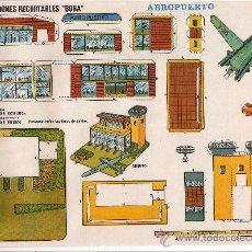 Coleccionismo Recortables: (CR0007) AEROPUERTO Nº521 CONSTRUCCIONES RECORTABLES BOGA AÑOS 1970. Lote 25777945