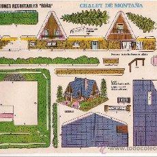 Coleccionismo Recortables: (CR0008) CHALET DE MONTAÑA Nº 522 CONSTRUCCIONES RECORTABLES BOGA AÑOS 1970. Lote 25777965