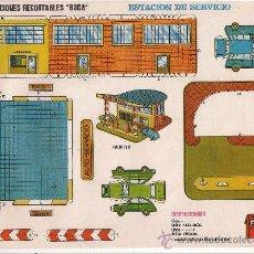 Coleccionismo Recortables: (CR0009) ESTACION DE SERVICIO Nº 523 CONSTRUCCIONES RECORTABLES BOGA AÑOS 1970. Lote 25778140