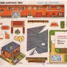 Coleccionismo Recortables: (CR0014) CASA DE VERANO Nº 528 CONSTRUCCIONES RECORTABLES BOGA AÑOS 1970. Lote 25778204