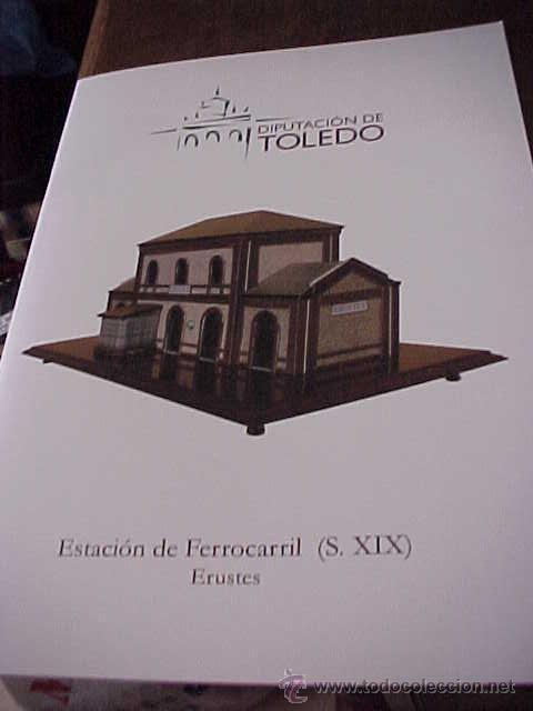 RECORTABLE. ESTACION DE FERROCARRIL. S. XIX. ERUSTES. RECORTABLE INFANTIL (Coleccionismo - Recortables - Construcciones)