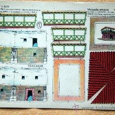 Coleccionismo Recortables: RECORTABLE VIVIENDA ETRUSCA. EDITORIAL LA TIJERA. SERIE 10. Nº 259. Lote 27348854