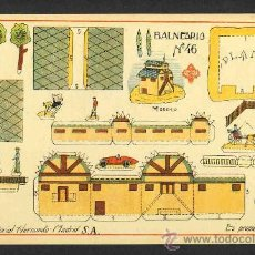 Coleccionismo Recortables: RECORTABLE DE CONSTRUCCIONES: BALNEARIO (ED.HERNANDO NUM.46). Lote 28268388