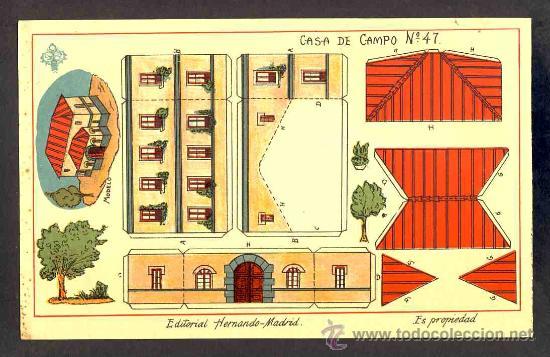 RECORTABLE DE CONSTRUCCIONES: CASA DE CAMPO (ED.HERNANDO NUM.47) (Coleccionismo - Recortables - Construcciones)