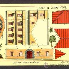 Coleccionismo Recortables: RECORTABLE DE CONSTRUCCIONES: CASA DE CAMPO (ED.HERNANDO NUM.47). Lote 28107211
