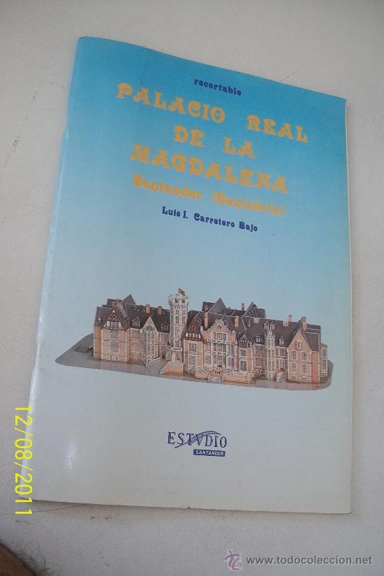 PALACIO REAL DE LA MAGDALENA- SANTANDER, CANTABRIA- RECORTABLE-LUIS I. CARRETERO BAJO-1985 (Coleccionismo - Recortables - Construcciones)