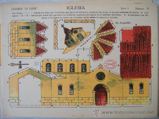 LA TIJERA.SERIE 5 (Coleccionismo - Recortables - Construcciones)