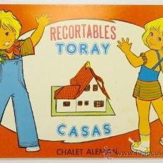 Coleccionismo Recortables: RECORTABLES TORAY, CASAS Nº 11, CHALET ALEMÁN, 1977, CUADERNO RECORTABLE, EDICIONES TORAY. Lote 28764888
