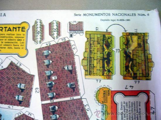 Coleccionismo Recortables: RECORTABLE, EL ALCAZAR DE SEGOVIA, SERIE MONUMENTOS NACIONALES Nº 6, EDICIONES LA TIJERA, HOJA Nº 2 - Foto 3 - 29136196