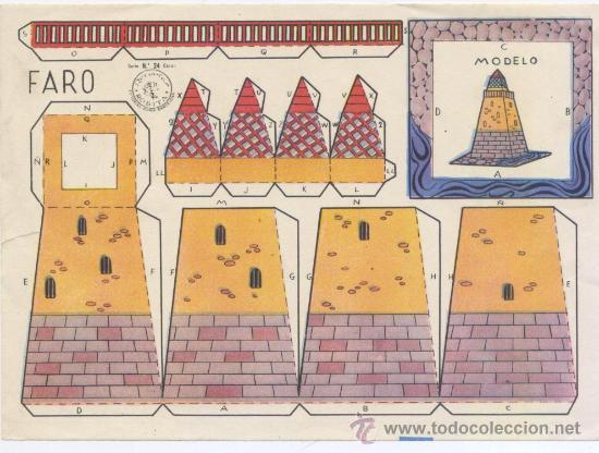 RECORTABLE *ROSITA* - SERIE CASAS Nº 24 - *FARO* - EDT. ROMA (Coleccionismo - Recortables - Construcciones)