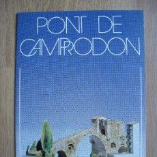 Coleccionismo Recortables: PONT DE CAMPRODON. COLECCION MONUMENTOS RECORTABLES. SALVATELLA. Lote 171994658