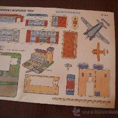 Coleccionismo Recortables: RECORTABLE CONSTRUCION AEROPUERTO DE RECORTABLES BOGA. Lote 30659604