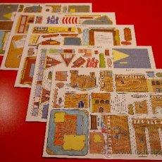 Coleccionismo Recortables: COLECCION COMPLETA RECORTABLES CONSTRUCCIÓN DE LOS AÑOS 70 5 HOJAS. Lote 30853181