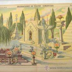 Coleccionismo Recortables: PALUZIE.DECORACIONES DE TEATRO.CEMENTERIO. Lote 31555820