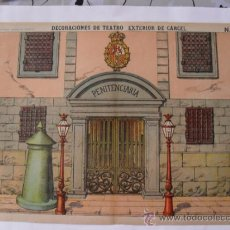 Coleccionismo Recortables: PALUZUE,DECORACIONES DE TEATRO.EXTERIOR DE CARCEL Nº 510. Lote 31643929