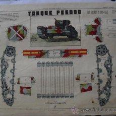 Coleccionismo Recortables: TANQUE PESADO URIARTE SERIE A Nº 1. Lote 31921122