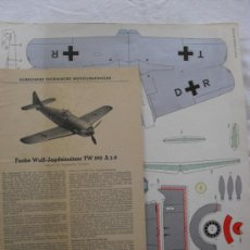Coleccionismo Recortables: FOCKE WULF-JAGDEINSITZER FW 190 A 1-9. Lote 31974286