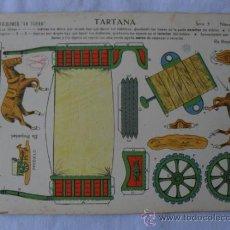 Coleccionismo Recortables: LA TIJERA SERIE Nº 5 TARTANA Nº 1. Lote 32170558