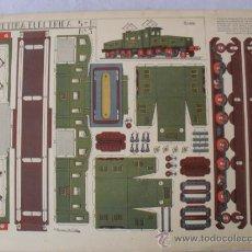 Coleccionismo Recortables: RECORTABLE LOCOMOTORA ELECTRICA 5-B Nº3 GRAFICAS REUNIDAS. Lote 32352839