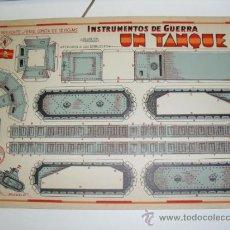 Coleccionismo Recortables: CONSTRUCTIONS.INSTRUMENTOS DE GUERRA Nº 1UN TANQUE CONSTRUCCIONES COSTALES. Lote 32521397