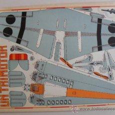 Coleccionismo Recortables: CONSTRUCTION.INSTRUMENTOS DE GUERRA Nº 4 UN TRIMOTOR CONSTRUCCIONES COSTALES. Lote 32521559