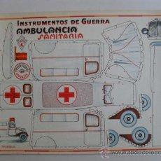 Coleccionismo Recortables: CONSTRUCTION.INSTRUMENTOS DE GUERRA Nº 6AMBULANCIA SANITARIA CONSTRUCCIONES COSTALES. Lote 32521592