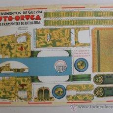 Coleccionismo Recortables: CONSTRUCTION.INSTRUMENTOS DE GUERRA Nº 7AUTO-ORUGA CONSTRUCCIONES COSTALES. Lote 32521607