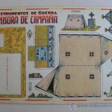 Coleccionismo Recortables: CONSTRUCTION.INSTRUMENTOS DE GUERRA Nº8 EMISORA DE CAMPAÑA CONSTRUCCIONES COSTALES. Lote 32521627