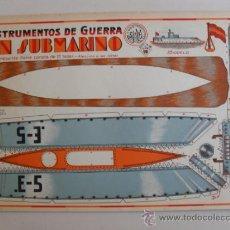Coleccionismo Recortables: CONSTRUCTIONS.INSTRUMENTOS DE GUERRA Nº10 UN SUBMARINO CONSTRUCCIONES COSTALES. Lote 32521666
