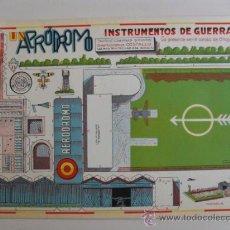 Coleccionismo Recortables: CONSTRUCTIONS.INSTRUMENTOS DE GUERRA Nº11 UN AEREODROMO CONSTRUCCIONES COSTALES. Lote 32521681