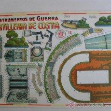 Coleccionismo Recortables: CONSTRUCTIONS.INSTRUMENTOS DE GUERRA Nº12 ARTILLERIA DE COSTACONSTRUCCIONES COSTALES. Lote 32521691