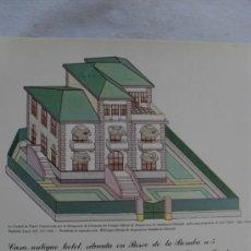 Coleccionismo Recortables: CASA ANTIGUO HOTEL,PASEO DE LA BOMBA,3 EDIFICIO SINGULAR DE GRANADA. Lote 32562079